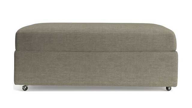 Lounge II Storage Ottoman with Casters - darius pumice - Crate and Barrel