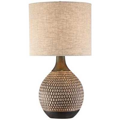 Emma Brown Ceramic Mid-Century Table Lamp - Lamps Plus