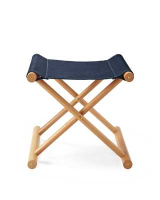 Cooper Leather Stool - Navy - Serena and Lily