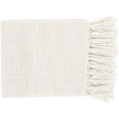 Bovina Throw Blanket - White - Wayfair