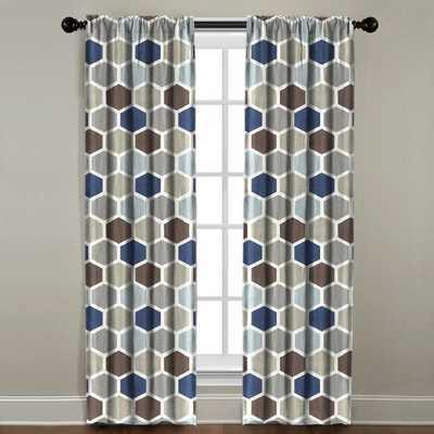 REGAL HEXAGON WINDOW PANEL - Linen & Seam