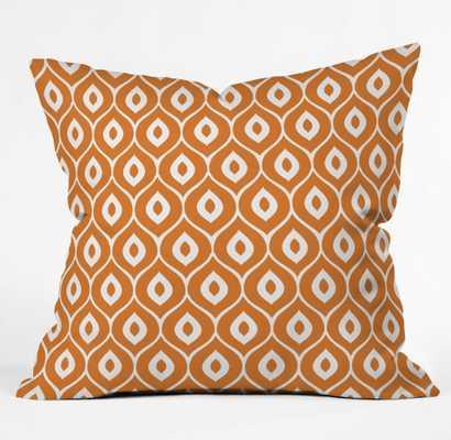 LEELA ORANGE Pillow 18 x 18 - Wander Print Co.