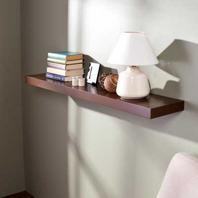 10 in. Chicago Chocolate (Brown) Floating Shelf (Price Varies by Length) - Home Depot