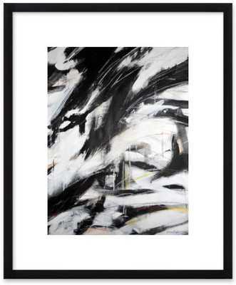 "After Kline II - 10/21/2011 by Kurt Waldo-Black Wood Frame 3"" mat - Artfully Walls"