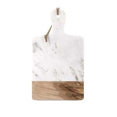 MARBLE AND WOOD RECTANGLE CHEESE BOARD - McGee & Co.