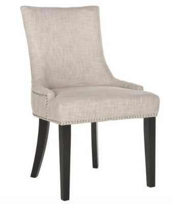 Lester Grey Dining Chair (Set of 2), Gray/Brown - Home Depot