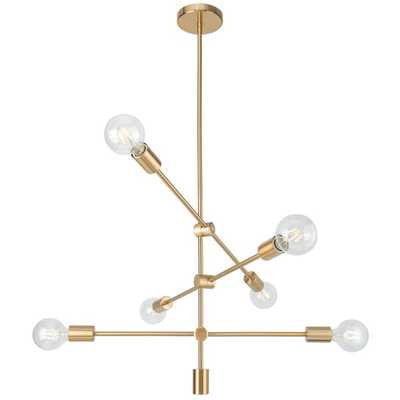 Dycus 6-Light Sputnik Modern Linear Chandelier - Wayfair