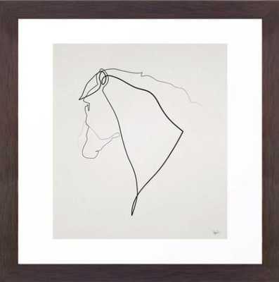 Horse 2512 Framed Art Print - Society6
