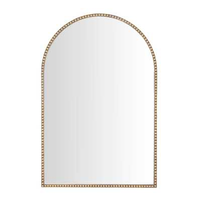 Wall Mirrors Gold Beaded Rounded Arch Mirror - Home Depot
