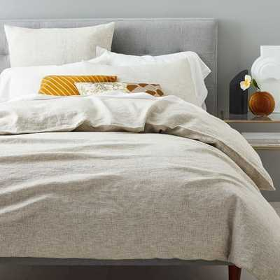 Belgian Flax Linen Space Dyed Duvet Cover, King, Flax Multi - West Elm