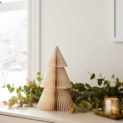"Accordion Paper Tree, Small, Ivory + Silver, 12"" - West Elm"