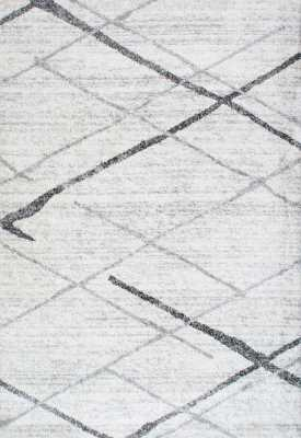 Azha Broken Light Gray Area Rug - AllModern
