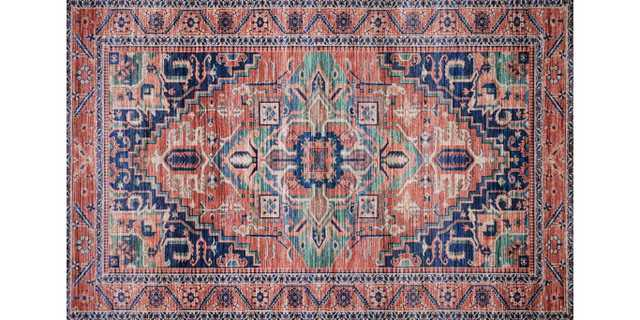 "CIE-06 CORAL / MULTI, 5' x 7'6"" - Loma Threads"
