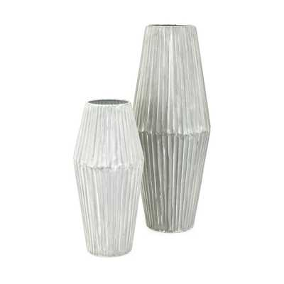 Willow Metal Vases - Set of 2 - Mercer Collection