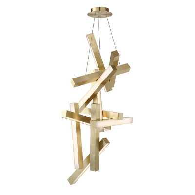 Chaos 12-Light LED Geometric Chandelier - Wayfair