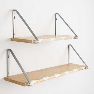 "Wood and Marble Inlay Mix & Match Wall Shelves - 24"" by World Market 24"" - World Market/Cost Plus"