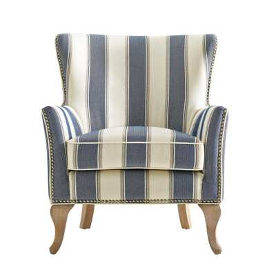 Dotty Blue Upholstered Accent Chair - Home Depot