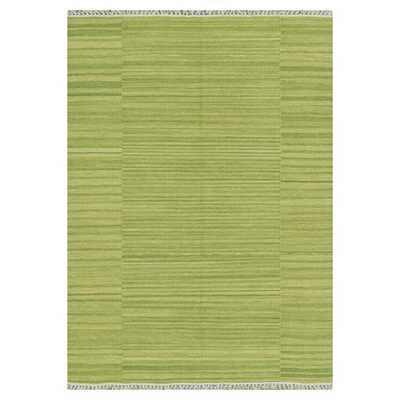 Barret Hand-Woven Green Area Rug - Green - Wayfair