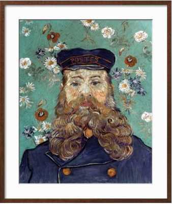 """VAN GOGH: POSTMAN, 1889- 2"""" Frame - art.com"""