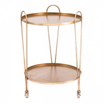 Trebede Bar Cart Gold - Zuri Studios