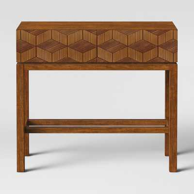 Tachuri Geometric Front Console Table Brown - Target
