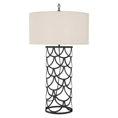 SERENA BARREL TABLE LAMP - AGED IRON - McGee & Co.