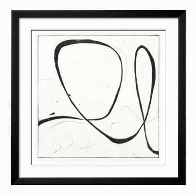 "Big Swirl 2- Neuhaus Black frame 30"" x 30"" - art.com"