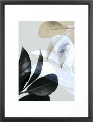 Moody Leaves II Framed Art Print - Society6