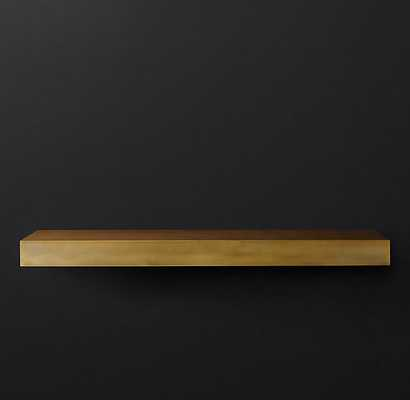 "Floating Metal Shelf - Brass - 36"" - RH"