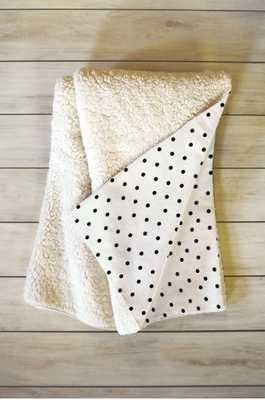 TINY POLKA DOTS Fleece Throw Blanket By Allyson Johnson - Wander Print Co.