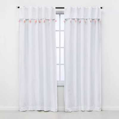 84 Ombre Tassel Valence Blackout Window Curtain Panel Pink - Pillowfort - Target