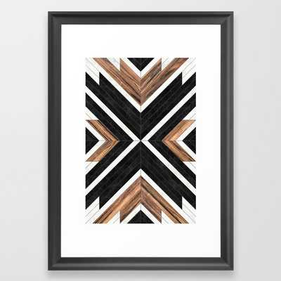 Urban Tribal Pattern No.1 - Concrete and Wood Framed Art Print - Society6