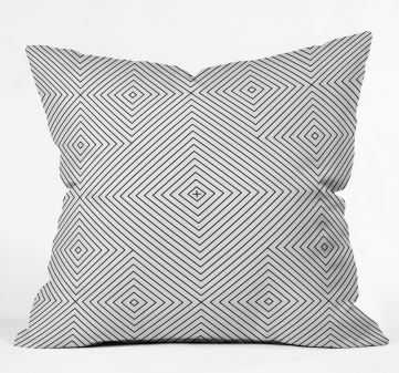 KERNOGA BLACK AND WHITE 2 Throw Pillow By Fimbis - Wander Print Co.