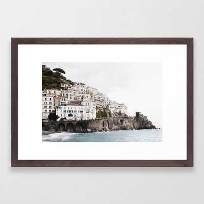Amalfi Coast Framed Art Print - Society6