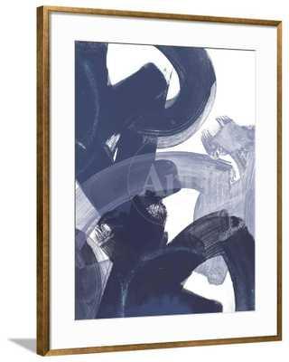 """Blue on Blue I By June Vess_ 40"""" x 50""""_ Bristol Frame - art.com"""