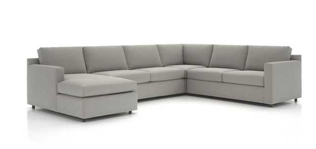 Barrett 4-piece left arm chaise sectional - Crate and Barrel