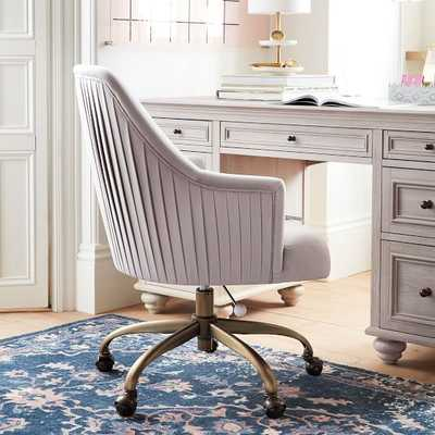 Pleated Desk Chair, Velvet Gray - Pottery Barn Teen