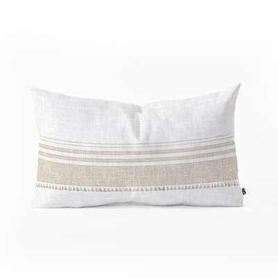 FRENCH LINEN TASSEL Oblong Throw Pillow - Wander Print Co.