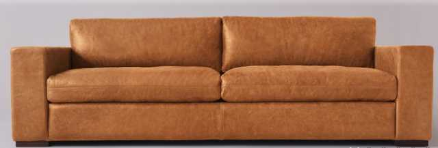 Aberdeen Leather Sofa - Sixpenny