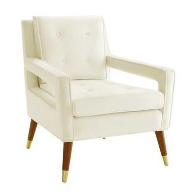 Taylor Cream Velvet Chair - Maren Home