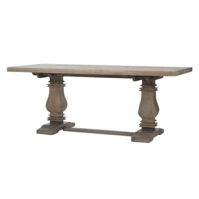 Aldridge Antique Gray Dining Table, Anitque Grey - Home Depot