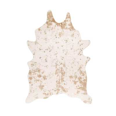 Iraida Faux Cowhide Off White 5 ft. x 7 ft. Shaped Rug - Home Depot