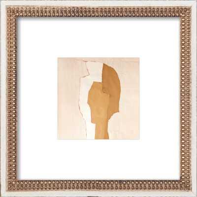 Abstract Head by Boriana Mihailovska - 8x8 - Distressed Cream Double Bead Wood Frame - Artfully Walls