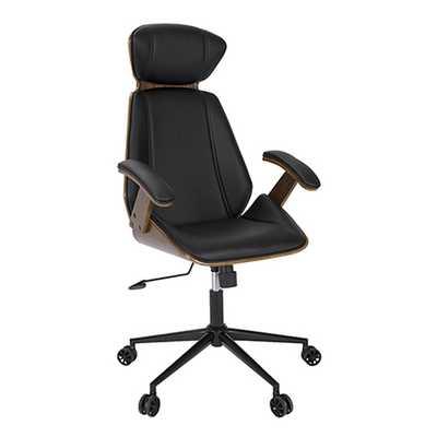 Spectre Office Chair -Walnut/Black - Hollis Modern
