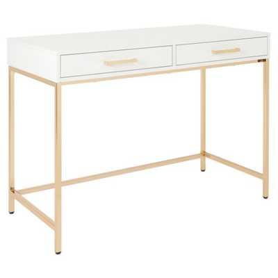OSP Designs Alios 2 Drawer Writing Desk - Hayneedle