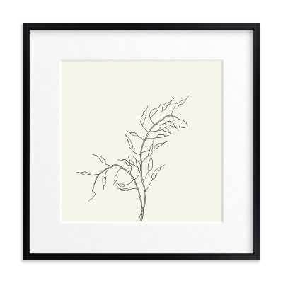 "wild radish art print- 24""x24"", Rich Black Wood Frame, Matted - Minted"
