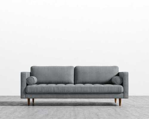 Luca Sofa - Linen Weave, Concrete - Rove Concepts