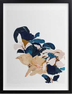 Abstract Botanical - standard - rich black wood frame - 30 x 40 - Minted