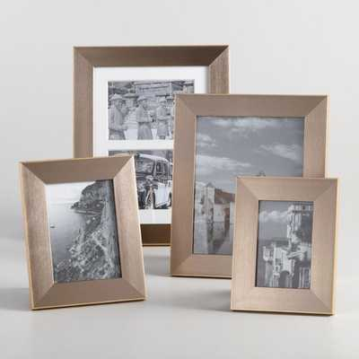 "Pewter And Gold Portofino Frame - 5""x7"" by World Market 5""x7"" - World Market/Cost Plus"
