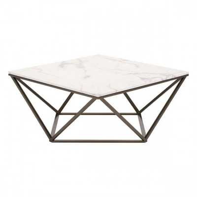 Tintern Coffee Table Stone & A. Brass - Zuri Studios